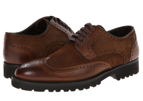 To Boot New York Brown Leather Laceup Wingtip Oxfords