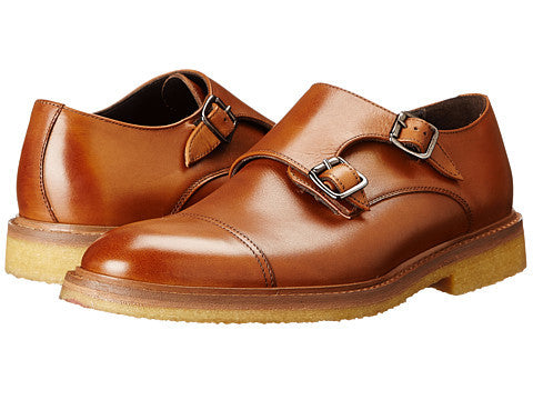 To Boot New York Tan Leather Double Monkstrap Oxfords