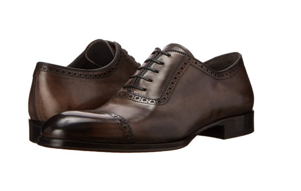 To Boot New York Grey Leather Mens Oxfords