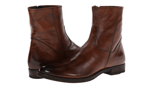 To Boot New York Cognac Leather Zipper Boots
