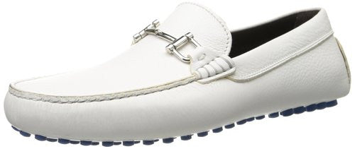 To Boot New York White Leather Men's Loafers