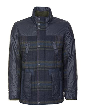 Tommy Hilfiger Men's Navy/Green Reversible 3/1 Coat, Large