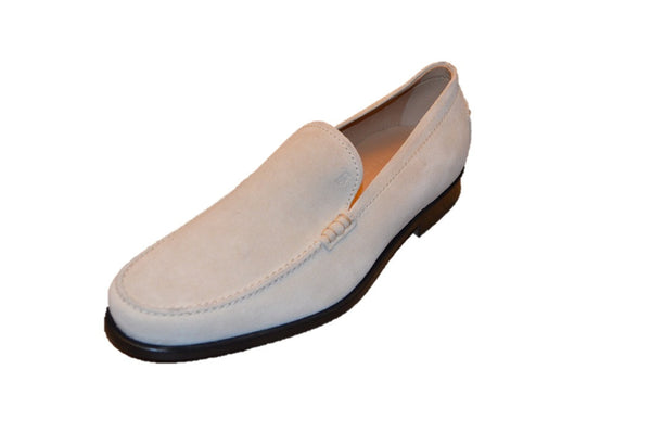 TOD's Beige Leather Slip-on Men's Loafers