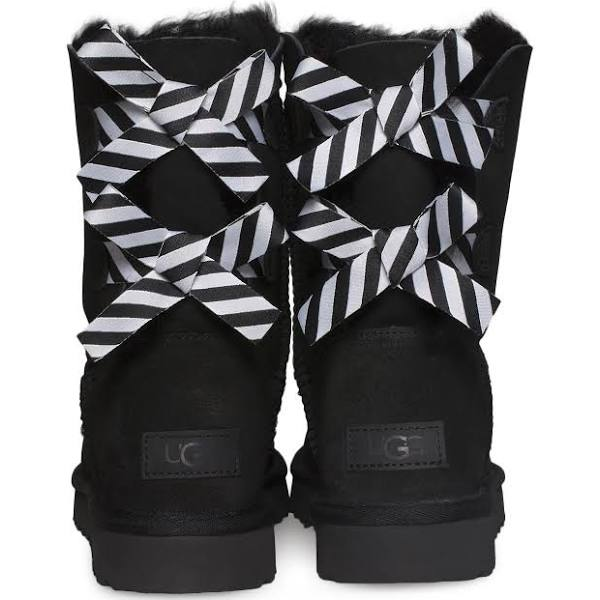 UGG Australia Bailey Bow II Diagonal Stripes Seal Boots