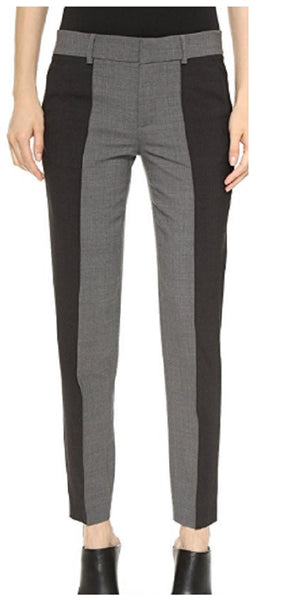 Vince Women's Blk/Gry Contrast Colorblock Pants