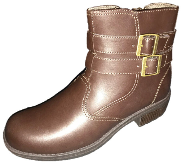 Eastland Women's Brown Leather Women Zipper Ankle Boots