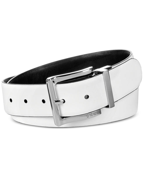 Dkny Reversible Pant Belt (White/Black/Silver,