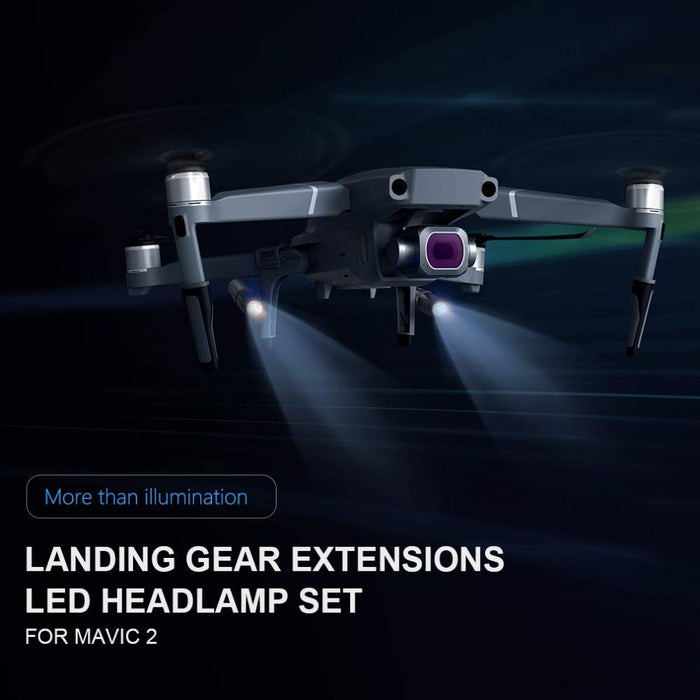 Mavic 2 PGYTECH Landing Gear with LED Headlamps