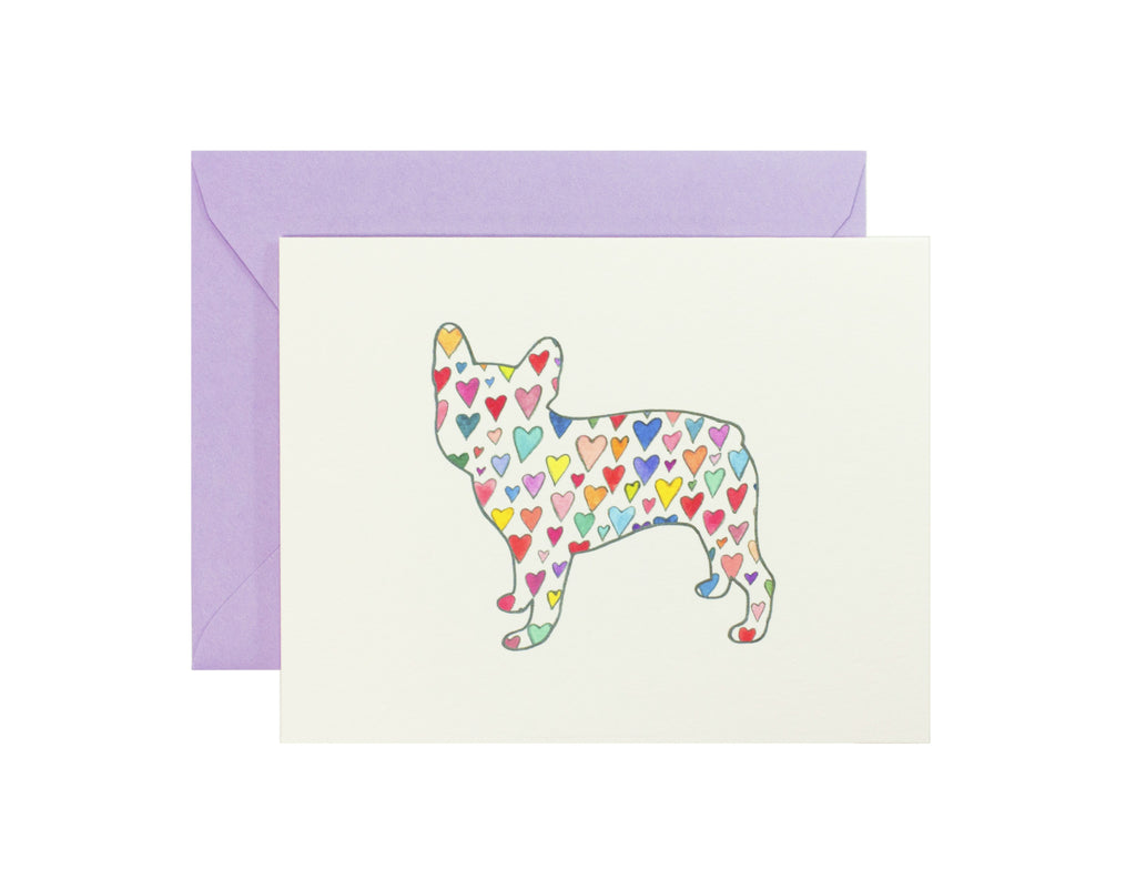 Frenchie Silhouette Card