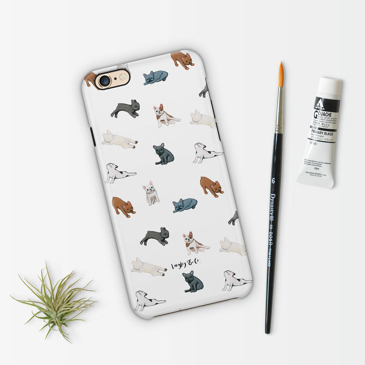 Frenchie Poses Patterned Phone Case