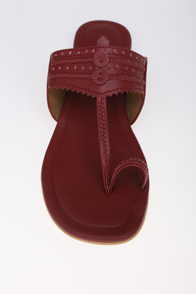 MAROON SLIPPER