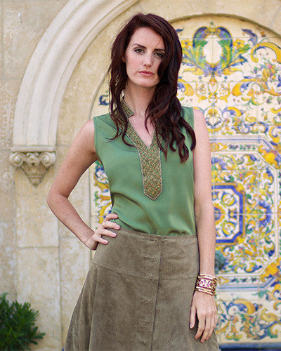 Pamela sleeveless embellished tunic - Nuarra