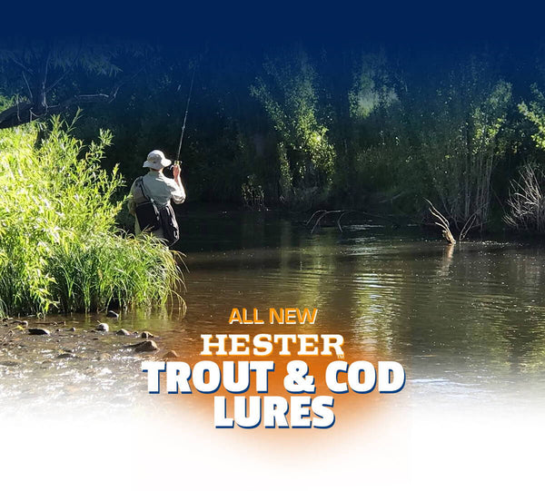 All New Hester Lures For Trout and Cod Fishing