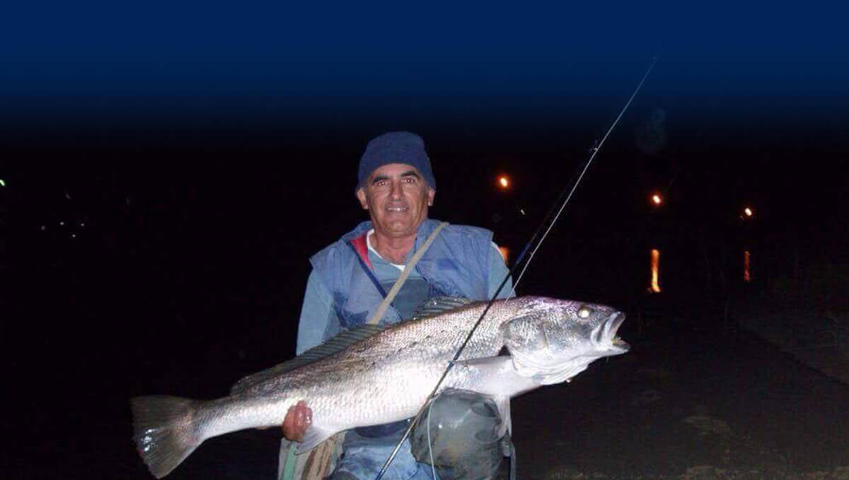 Mulloway caught on fly by angler Mario Pulis
