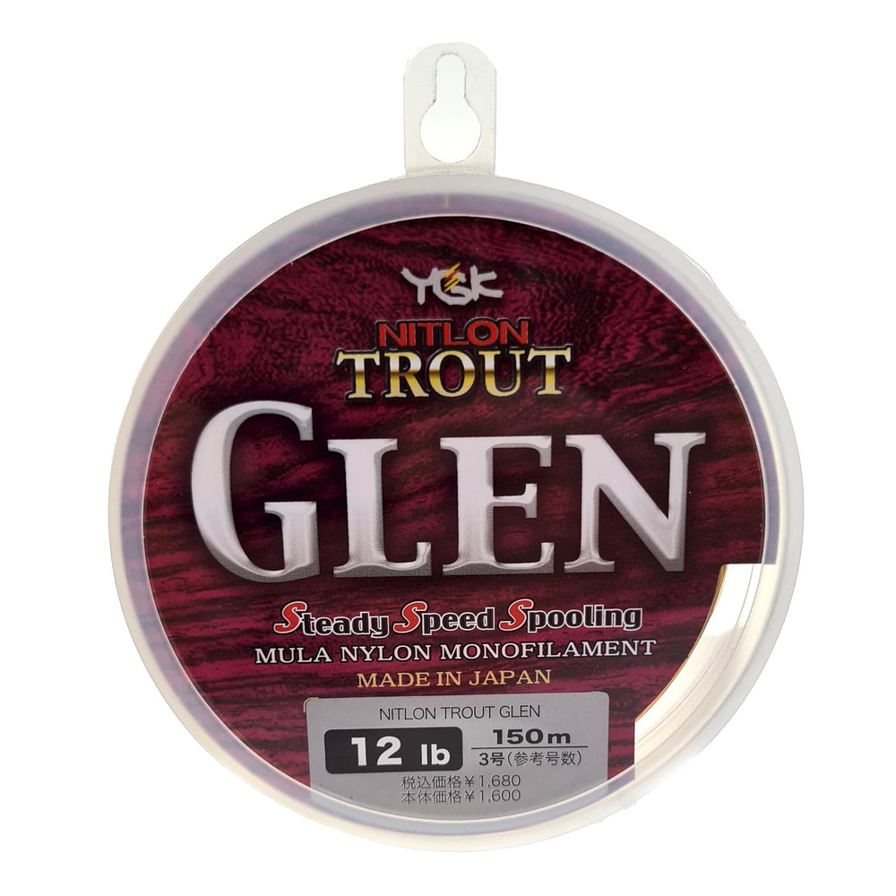 YGK Trout Glen Mono 12lb 150m Spool DAILY DEAL