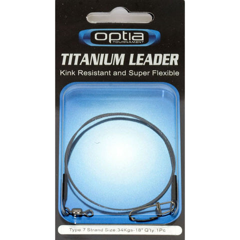 Optia Single Strand Titanium Leader