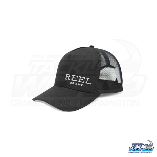 Reel Brand Wordmark Logo Trucker Hat