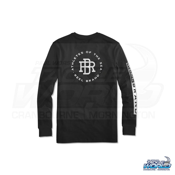 Reel Brand Logo Long Sleeve Tee Shirt