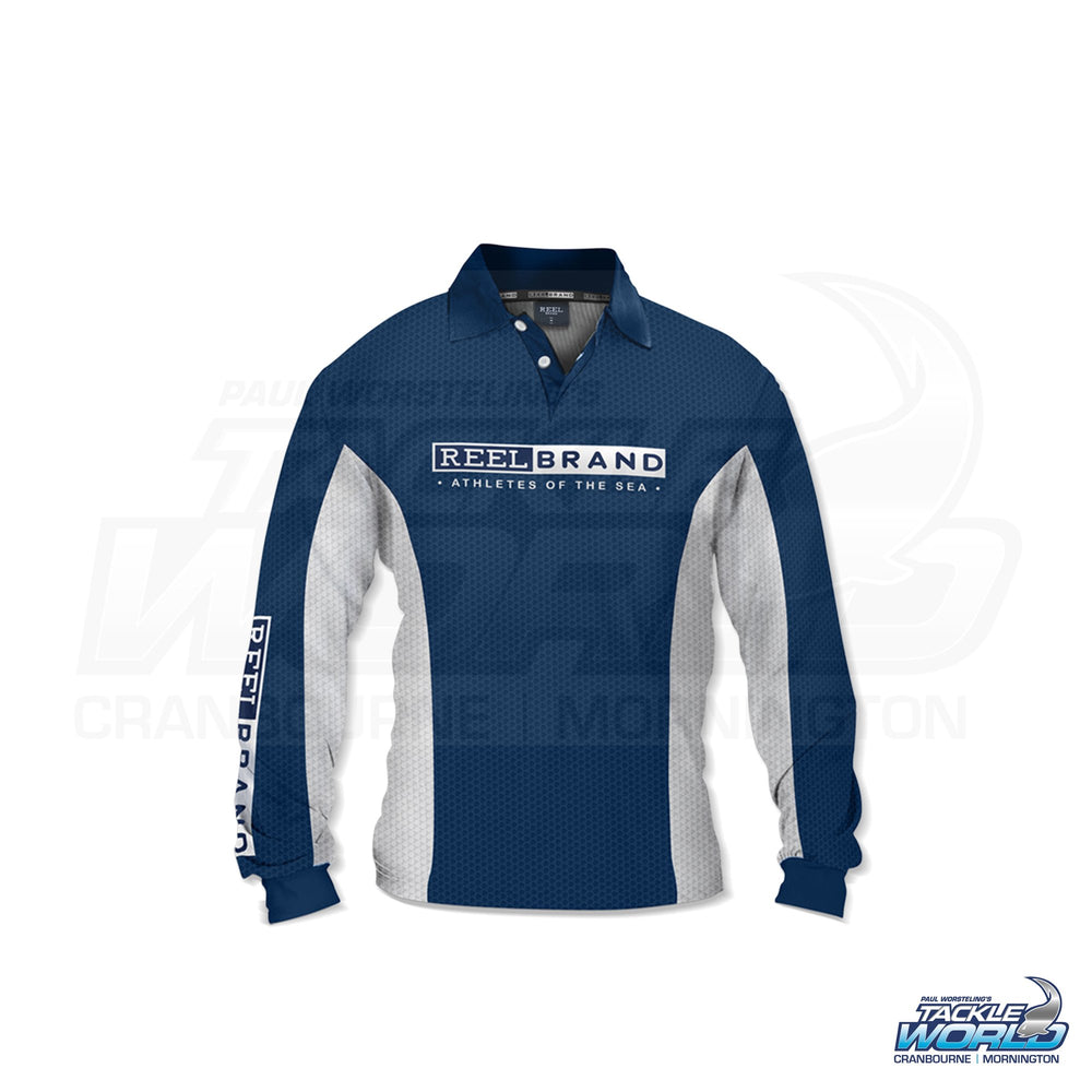Reel Brand Marlin Logo Sublimated Shirt with Collar