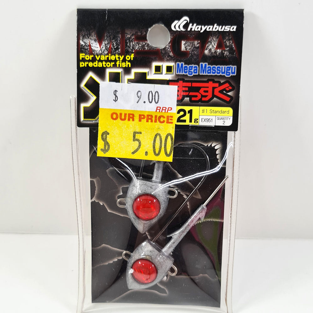 Hayabusa Mega Massugu 21g Jig Heads - DAILY DEAL