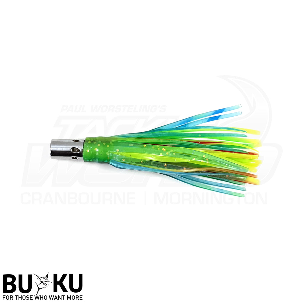 "BUKU 3.5"" Metal Head Skirted Lure - Tuna Marlin Salmon"