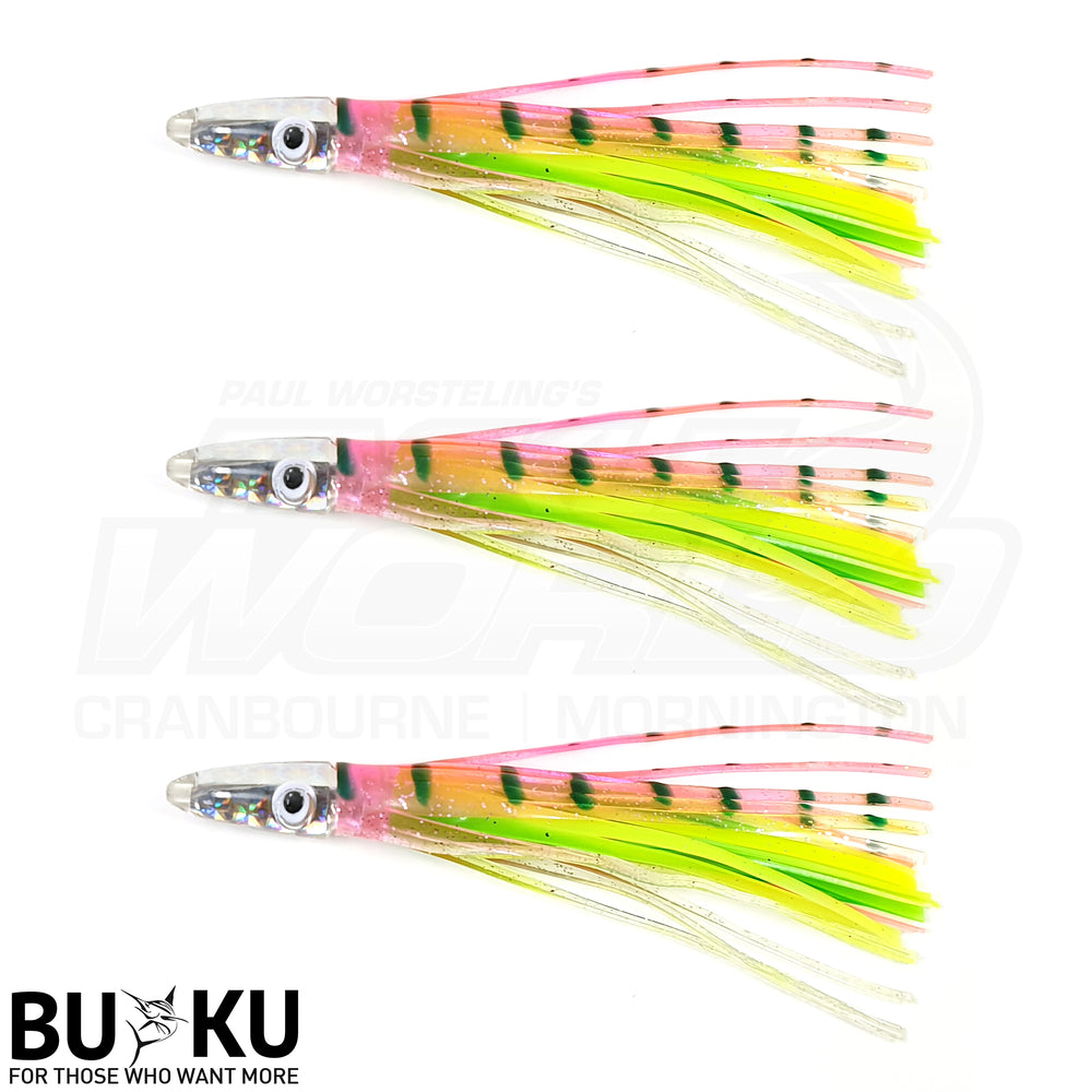 BUKU 3pk Tuna Bullet Head Lure 5.5""