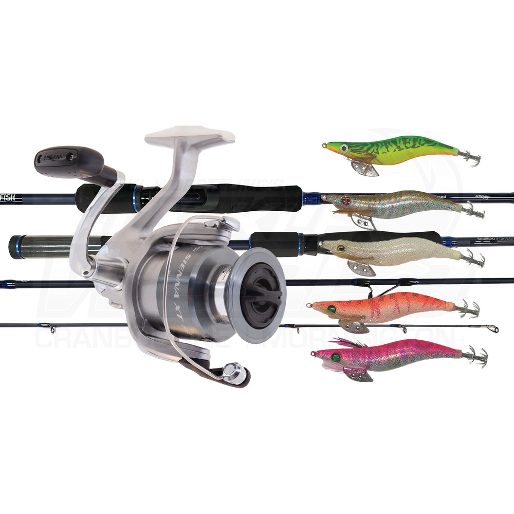 Squid Combo - IFISH EGI & SIENNA 2500XT + 5 IKA SQUID JIGS