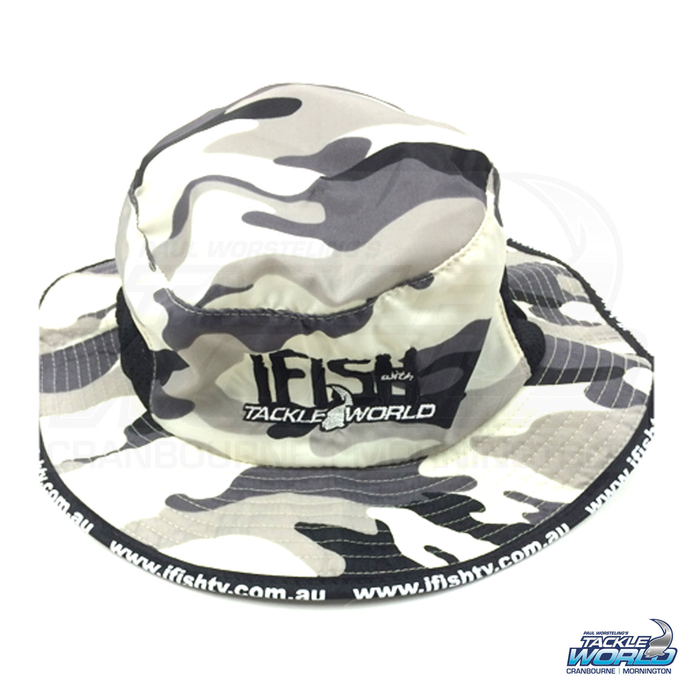 IFISH Nylon Camo Bucket Hat