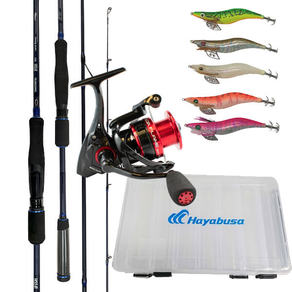 Shimano IFISH Egi & Okuma Epixor Flame Squid Package