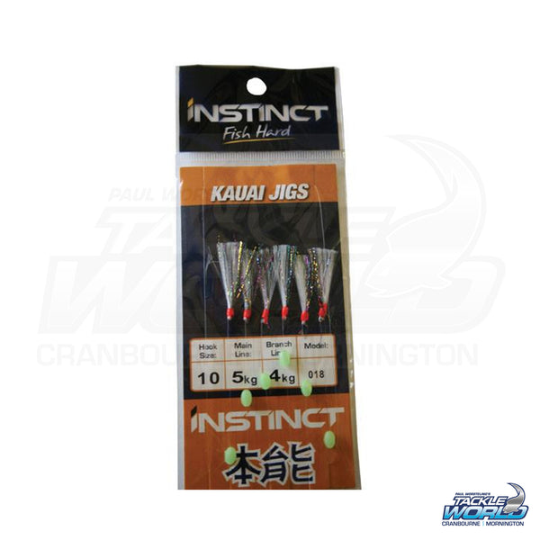 Instinct Sabiki Bait Rig Tinsel Feather Rainbow