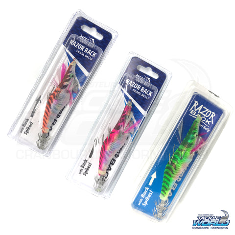 JARVIS WALKER RAZORBACK SQUID JIGS