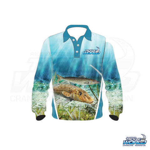 Tackle World Fish Print Kids Shirts