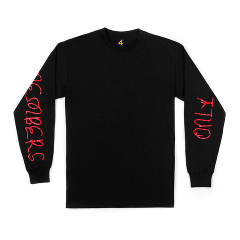 400 MEMBERS ONLY LONG SLEEVE TEE (BLACK)