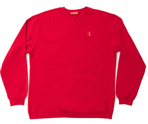 4HUNNID LOGO CREWNECK (RED)