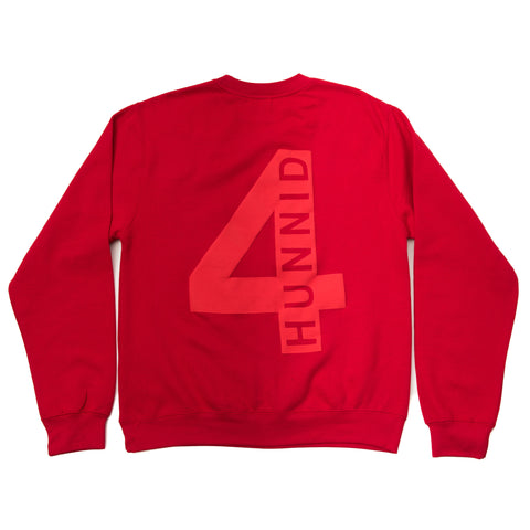 4HUNNID HIT UP CREWNECK (RED)