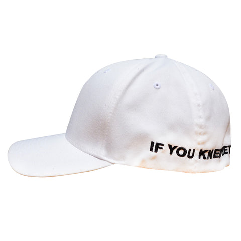 "IF YOU KNEW BETTER, YOU'D DO BETTER FLEX FIT HAT"" (WHITE)"