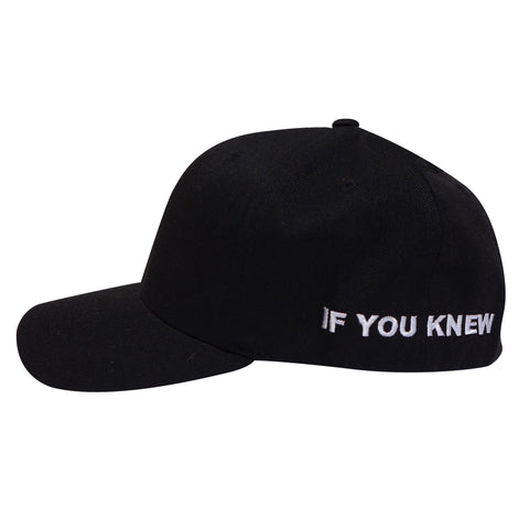 "IF YOU KNEW BETTER, YOU'D DO BETTER FLEX FIT HAT"" (BLACK)"