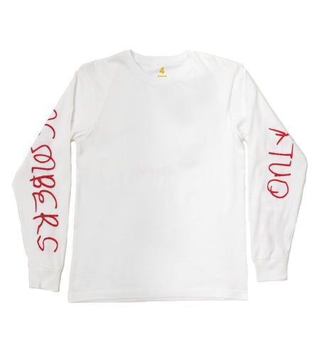 400 MEMBERS ONLY LONG SLEEVE TEE (WHITE)