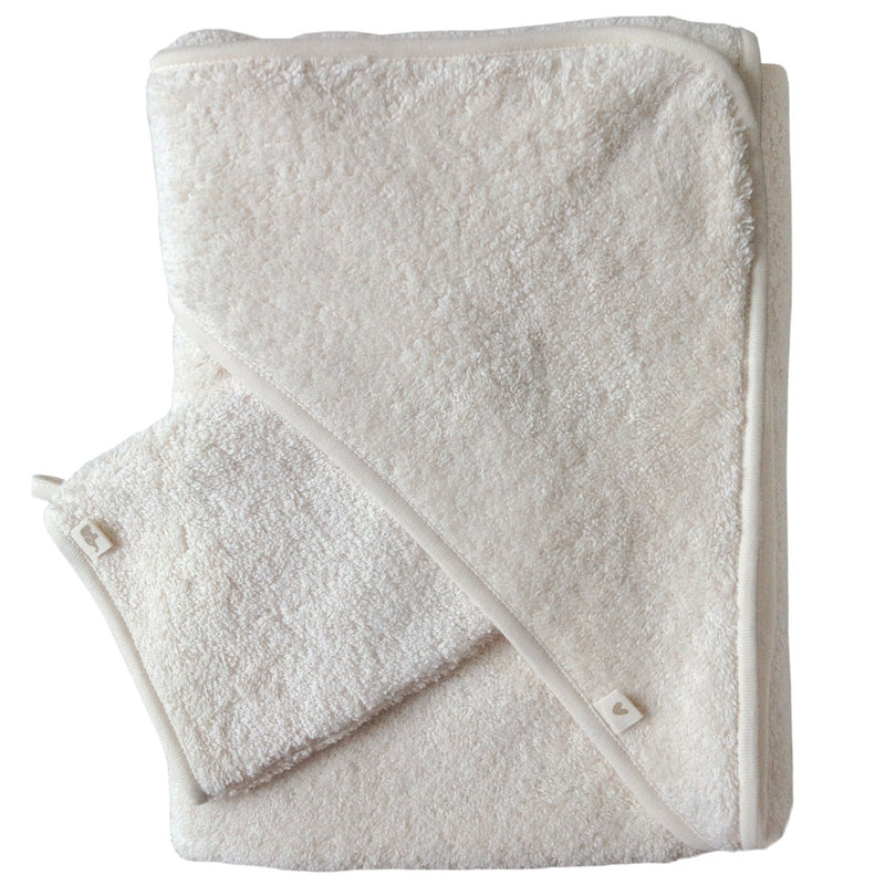 Petit Stellou Hooded Towel Vanille - 1