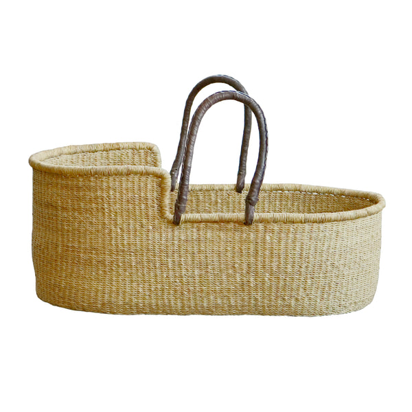 petit stellou moses baby basket nature