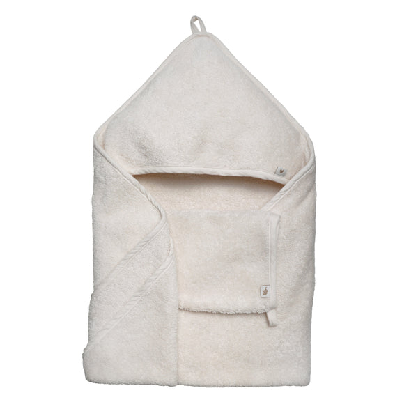 petit stellou hooded towel vanille