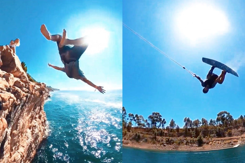 Wake boarding and cliff jumping with the Peacock brothers
