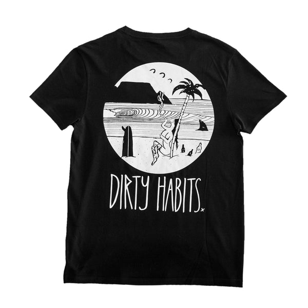 Dirty Habits - Black Candy Beach  Tee