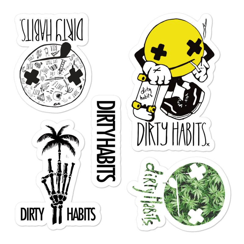 Dirty Face Sticker Pack