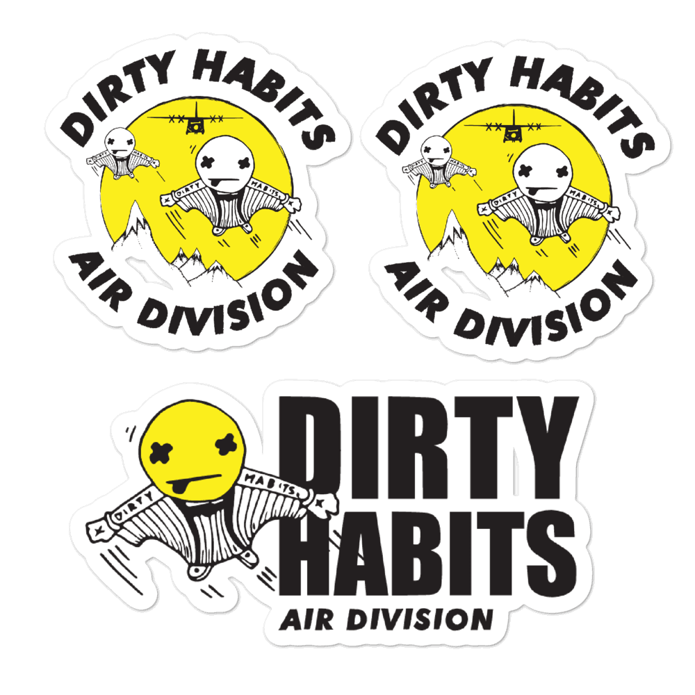 Dirty Habits Air division Stickers