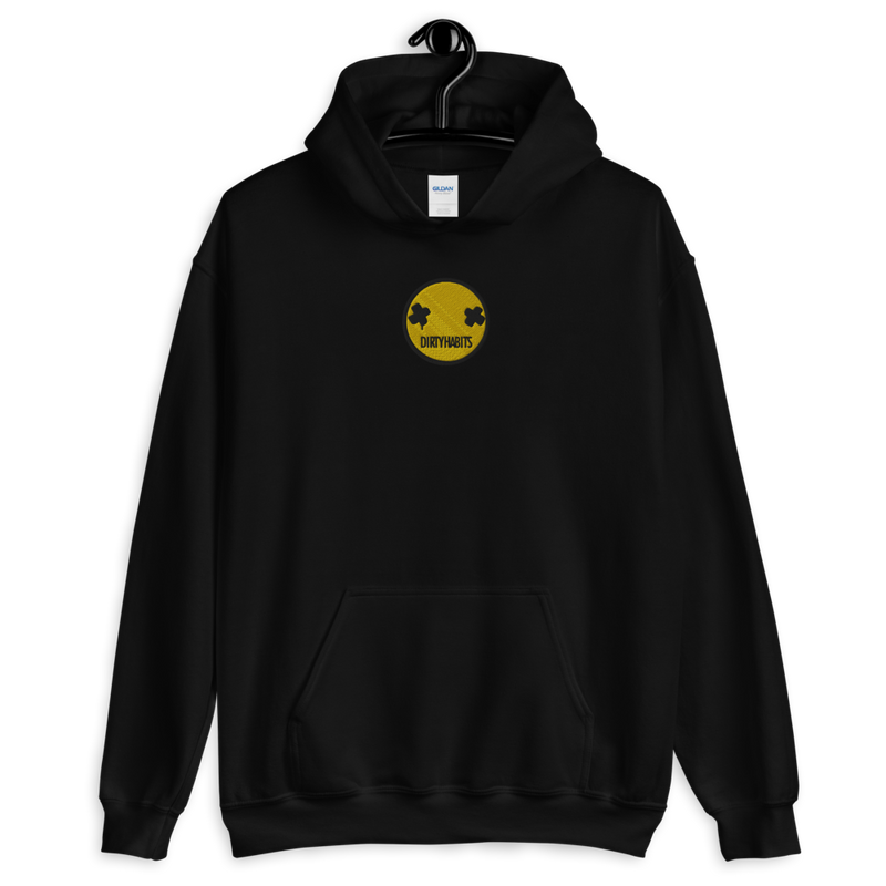 Embroided Face Hoodie