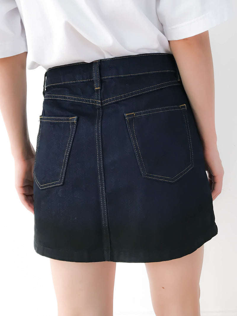Mini-jupe en denim Dark Blue JALOUSIE
