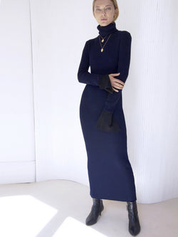 Robe-pull Longue Navy RAINBOW