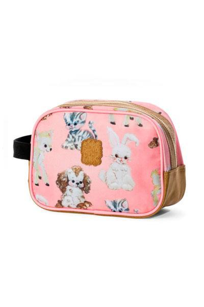 Barn-Pick & Pack Toalettmappe Cute Animals Rosa-BagBrokers