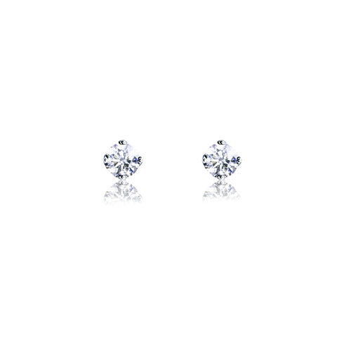 18ct White Gold Diamond Studs (Four Claw Setting)